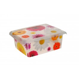 "Plastový box Fashion, ""Pink Flowers"", 39x29x14 cm - POSLEDNÝCH 8 KS"
