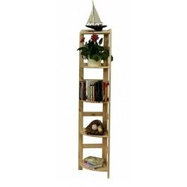 Drevený regál Rosar s 5 policami, 166x33x33 cm