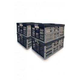 Zvýhodnená sada skladacích boxov na sťahovanie, 4 ks