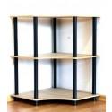 Regál kombinovaný Dedal, 3 police, rohový, 74x55x55 cm