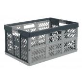 Plastový skladací box, veľký, šedý, 54x37x28 cm