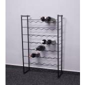 Stojan na víno Klasik, 48 fliaš, čierny, 92x58x23 cm
