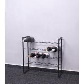 Stojan na víno Klasik, 30 fliaš, čierny, 60x58x23 cm