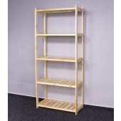 Drevený regál LS, 5 políc, 163x70x33 cm