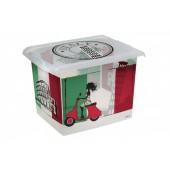 """Plastový box Fashion, """"ITALY"""", 39x29x27cm"""