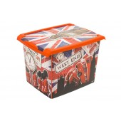 "Plastový box Fashion, ""LONDON"", 39x29x27cm - POSLEDNÉ 3 KS"