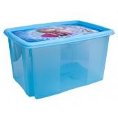 Plastový box Frozen, 45l, modrý s vekom, 55 x 39,5x29,5 cm