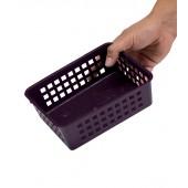 Plastový košík, A6 purpurový, 18,5x14x6 cm - POSLEDNÝCH 21 KS