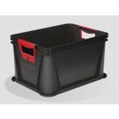 Plastový box Eurobox 20 l, grafit, 39x29x22 cm