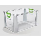 Plastový box Eurobox 64 l, priehľadný, 59x39x32 cm