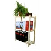 Dřevěný regál Ross, 3 police, 90x65x30 cm