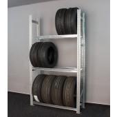 Regál na pneumatiky, 197x112x34 cm