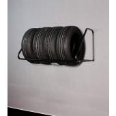 Nástenný regál na pneumatiky - čierny