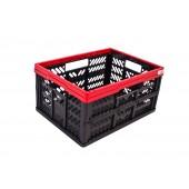 Plastový skládací box, malý, červený, Rozmery: 47,5x34,5x23 cm.