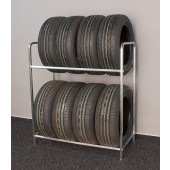 Regál na pneumatiky, pozink, 8 ks pneumatík